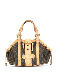 Louis Vuitton 2004 Pre Owned Teda Pm Tote Brown
