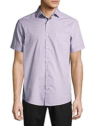 Report Collection Printed Cotton Shirt Lavender