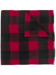 Dsquared2 Checked Scarf Black