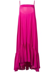 Gianluca Capannolo Flared Cami Dress Pink
