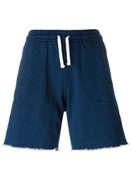 Maison Kitsune Fleece Shorts Blue