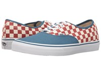 Vans Authentic 50Th Checkerboard Blue Ashes Skate Shoes