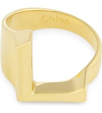 Chloe Alphabet L Ring Gold
