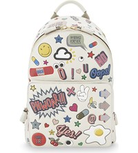 Anya Hindmarch Stickers Mini Leather Backpack Chalk Circus