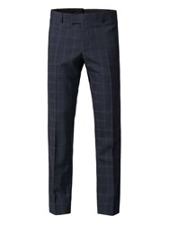 Alexandre Of England Men's Monroe Slim Check Trouser Blue