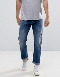 Esprit Straight Fit Jeans In Mid Wash Denim Mid Wash Blue