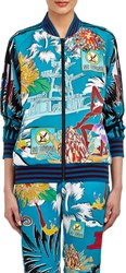 Adidas X Mary Katrantzou Floral And Swim Print Track Jacket Blue