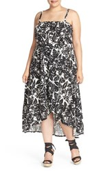 Plus Size Women's Lucky Brand Tropical Print Midi Sundress