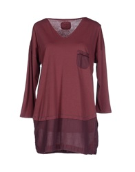 Sixty And Four T Shirts Maroon