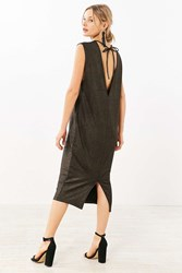 The Fifth Label Glitter Muscle Tee Midi Dress Bronze