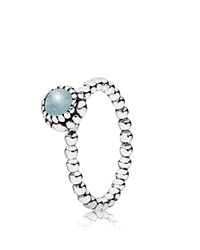 Pandora Design Pandora Ring Sterling Silver And Aquamarine Birthday Blooms March