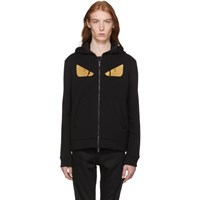 Fendi Black Wool 'Bag Bugs' Hoodie