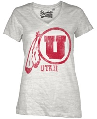 Royce Apparel Inc Women's Short Sleeve Utah Utes T Shirt White