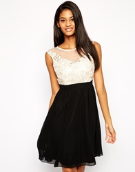 Little Mistress Sweetheart Prom Dress With Mesh Applique Top Nude