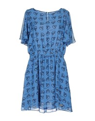 Andy Warhol By Pepe Jeans Short Dresses Blue