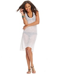Dotti Lace Illusion High Low Hem Cover Up Women's Swimsuit