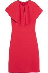 Giambattista Valli Ruffled Cady Mini Dress Red