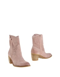 Oasi Ankle Boots Light Brown