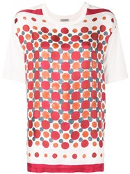 Bottega Veneta Printed Round Neck T Shirt White
