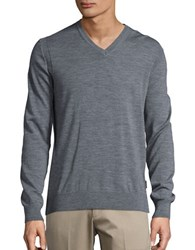 Michael Kors Merino Wool V Neck Sweater Ash