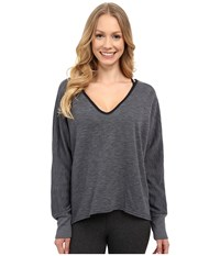 Hard Tail Dolman Sleeve Pullover Onyx Women's Long Sleeve Button Up Black