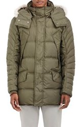 Barneys New York Quilted Parka Green