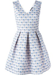 Markus Lupfer Sea Shell Effect Skater Dress Pink And Purple