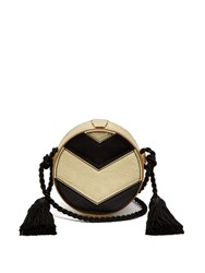 Hillier Bartley Chevron Collar Box Cross Body Bag Black Gold