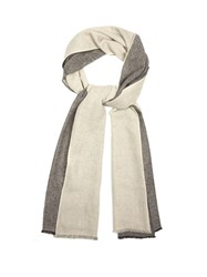 Denis Colomb Colour Block Cashmere Scarf Cream Multi
