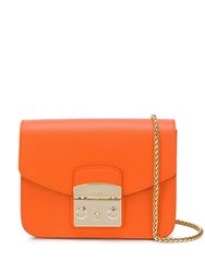 Furla Metropolis Mini Crossbody Bag Orange