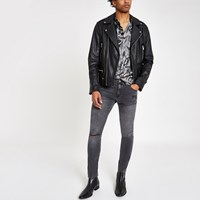 River Island Black Wash Ollie Super Skinny Ripped Jeans