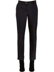 Salvatore Ferragamo Techno Gabardine Pants W Logo Buckle