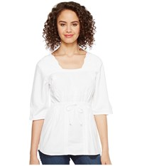 Scully Cantina Carla 3 4 Sleeve Top White Women's Clothing