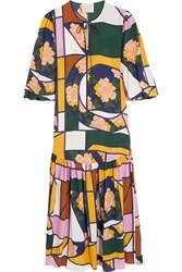 Roksanda Ilincic Naomi Printed Silk Maxi Dress Yellow