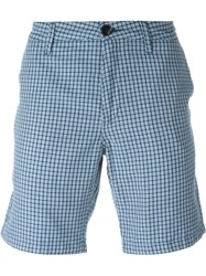 Paul Smith Jeans Checked Chino Shorts Blue