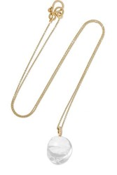 Sophie Bille Brahe Murano Simple 14 Karat Gold Diamond And Glass Necklace