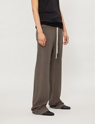 Drkshdw High Rise Straight Cotton Jersey Trousers Dark Dust