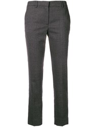 Mauro Grifoni Slim Fit Cropped Trousers Grey
