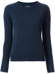 Zadig And Voltaire Relaxed Knit Top Blue