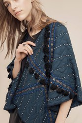 Anthropologie Quilted Sequin Kimono Blue