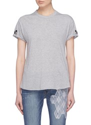 Sandrine Rose 'The Two Hundred' Embroidered T Shirt Grey