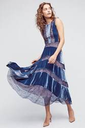 Anthropologie Velvet Frost Dress Sky