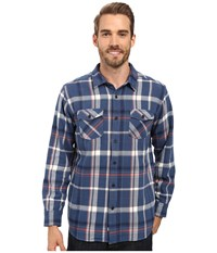 Quiksilver Yakatat Tailored Long Sleeve Woven Ensign Blue Men's Clothing