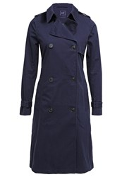 Gap Trenchcoat True Indigo Blue