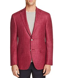 Jack Victor Loro Piana Herringbone Classic Fit Sport Coat 100 Bloomingdale's Exclusive Cranberry