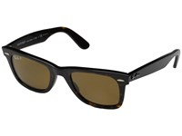 Ray Ban Rb2140 Original Wayfarer Polarized 50 Tortoise Polarized Brown Lens Sport Sunglasses