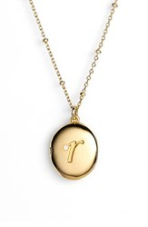 Women's Kate Spade New York Initial Locket Pendant Necklace Gold R