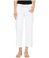 Jag Jeans Wallace Crop In Bay Twill White Women's Casual Pants