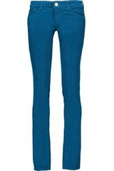 M Missoni Cotton Blend Corduroy Skinny Pants Cobalt Blue