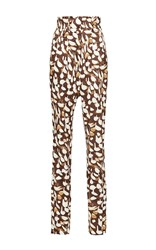Sophie Theallet Printed Maria Pant Brown
